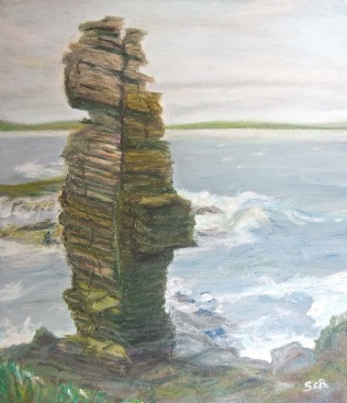 Rock stack @ Castle Sinclair Girnigoe, Caithness